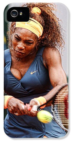 Serena Williams iPhone 5 Case - Tennis Star Serena Williams by Srdjan Petrovic