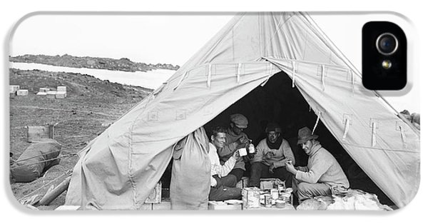 Terra Nova Camp In Antarctica IPhone 5 Case by Scott Polar Research Institute