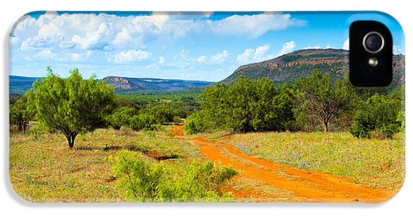 Texas Hill Country Red Dirt Road IPhone 5 Case by Darryl Dalton
