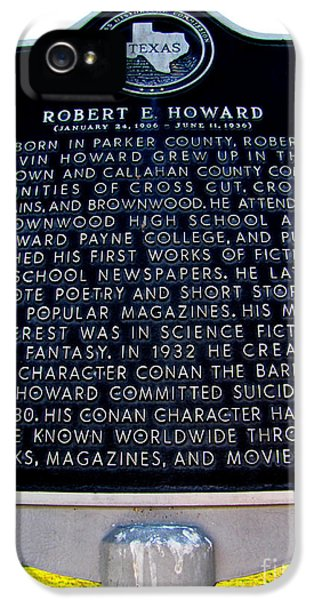 Texas Salutes Rober E Howard IPhone 5 Case