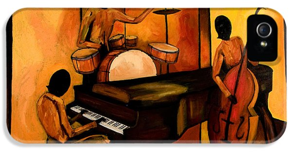 Drum iPhone 5 Case - The 1st Jazz Trio by Larry Martin