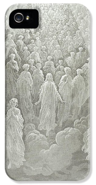 The Angels In The Planet Mercury IPhone 5 Case by Gustave Dore