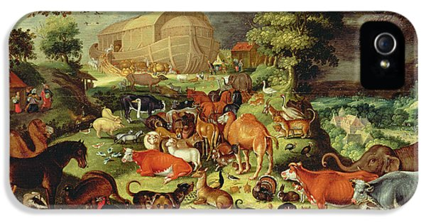 The Animals Entering The Ark IPhone 5 Case by Jacob II Savery