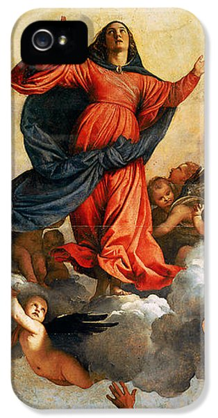 The Assumption Of The Virgin IPhone 5 Case by Titian