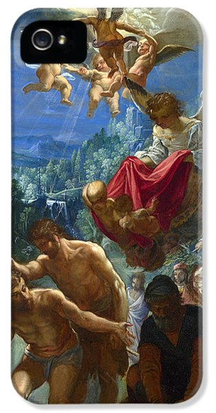 The Baptism Of Christ IPhone 5 Case by Adam Elsheimer