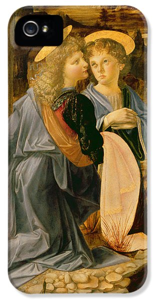 Detail Of The Baptism Of Christ By John The Baptist IPhone 5 Case by Andrea Verrocchio