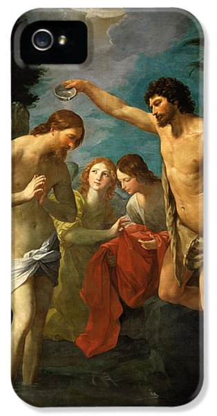 The Baptism Of Christ IPhone 5 Case by Guido Reni