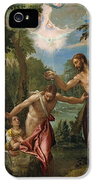 The Baptism Of Christ IPhone 5 Case by Paolo Veronese