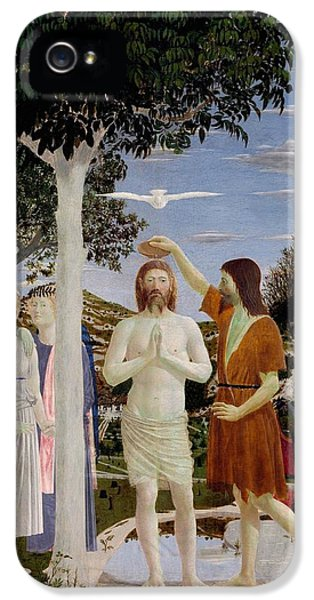 The Baptism Of Christ IPhone 5 Case by Piero della Francesca