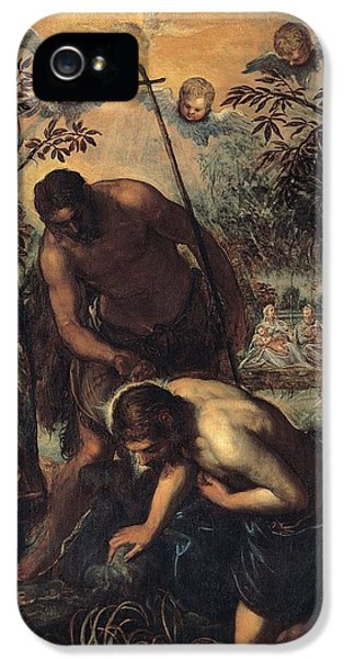 The Baptism Of Christ IPhone 5 Case by Tintoretto
