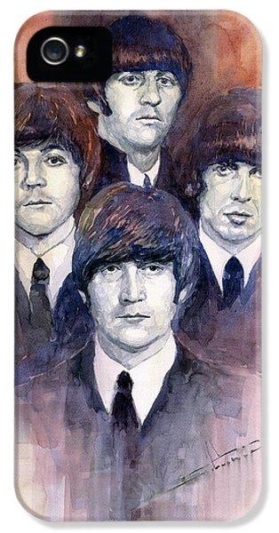 Musician iPhone 5 Case - The Beatles 02 by Yuriy Shevchuk