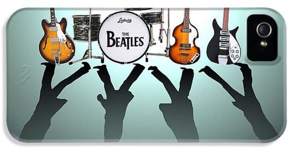 Drum iPhone 5 Case - The Beatles by Lena Day