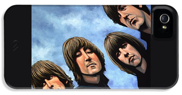 Rock And Roll iPhone 5 Case - The Beatles Rubber Soul by Paul Meijering