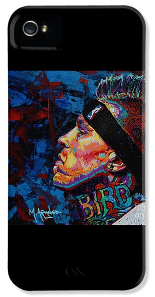 The Birdman Chris Andersen IPhone 5 Case by Maria Arango