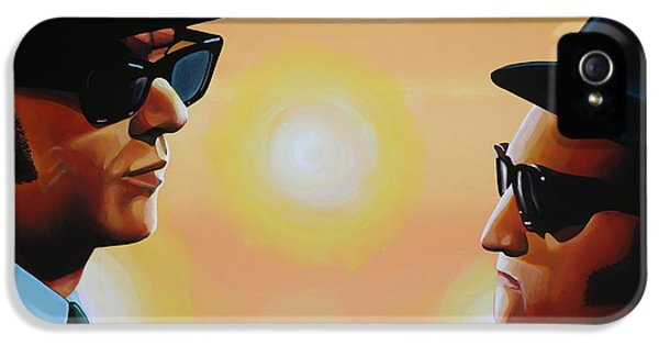 Rhythm And Blues iPhone 5 Case - The Blues Brothers by Paul Meijering