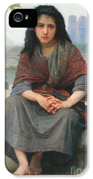 Violin iPhone 5 Case - The Bohemian by William Adolphe Bouguereau