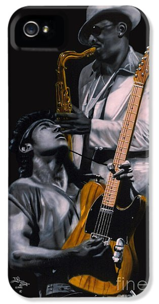 Bruce Springsteen iPhone 5 Case - Bruce Springsteen And Clarence Clemons by Thomas J Herring