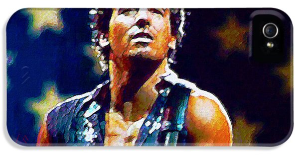 Bruce Springsteen iPhone 5 Case - The Boss by John Travisano