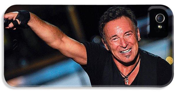 Bruce Springsteen iPhone 5 Case - The Boss by Rafa Rivas