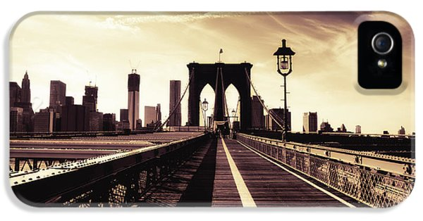 The Brooklyn Bridge - New York City IPhone 5 Case