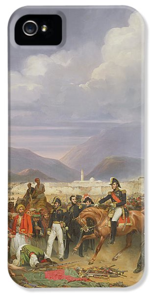 The Capture Of Morea Castle, 30th October 1828, 1836 Oil On Canvas IPhone 5 Case by Jean Charles Langlois