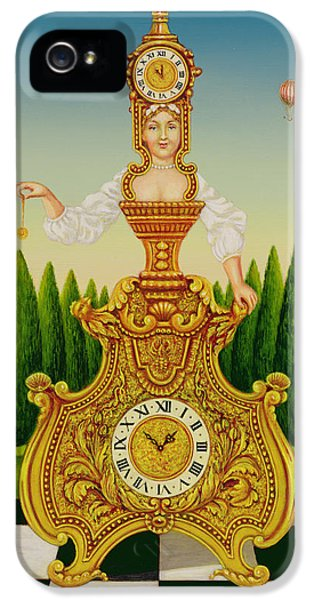 Clock iPhone 5 Case - The Clockmakers Wife by Frances Broomfield