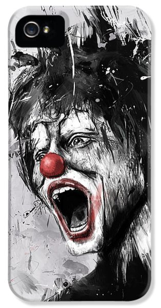 Surrealism iPhone 5 Case - The Clown by Balazs Solti