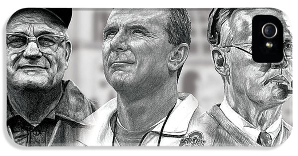 Pencil Drawing iPhone 5 Case - The Coaches by Bobby Shaw