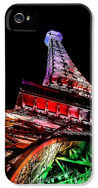 Eiffel Tower iPhone 5 Case - The Color Of Love by Az Jackson