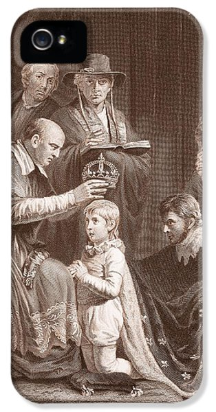 The Coronation Of Henry Vi, Engraved IPhone 5 Case by John Opie