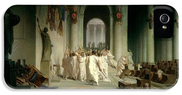 The Death Of Caesar IPhone 5 Case by Jean Leon Gerome