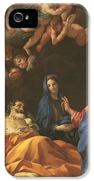 The Death Of Saint Joseph IPhone 5 Case by Carlo Maratta