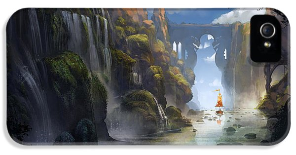 Dragon iPhone 5 Case - The Dragon Land by Kristina Vardazaryan