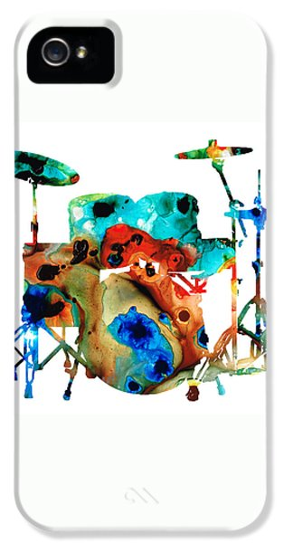 Drum iPhone 5 Case - The Drums - Music Art By Sharon Cummings by Sharon Cummings