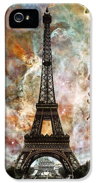 The Eiffel Tower - Paris France Art By Sharon Cummings IPhone 5 Case by Sharon Cummings