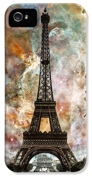 The Eiffel Tower - Paris France Art By Sharon Cummings IPhone 5 Case by Sharon Cummings