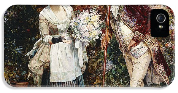 The Flower Girl IPhone 5 Case by Henry Gillar Glindoni