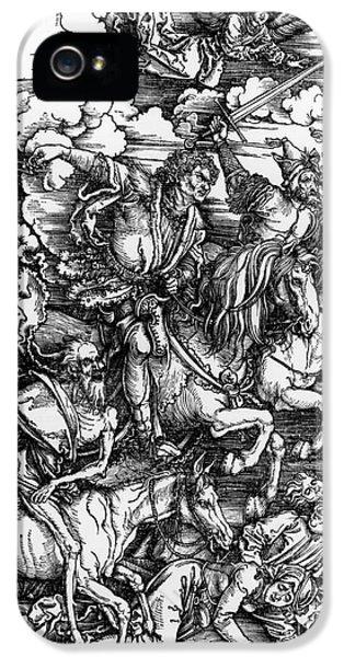 The Four Horsemen Of The Apocalypse IPhone 5 Case by Albrecht Durer
