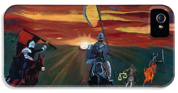 The Four Horsemen Of The Apocalypse IPhone 5 Case by John Paul Blanchette