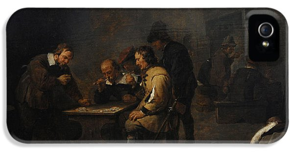 The Gamblers, C. 1640, By David Teniers The Younger 1610-1690 IPhone 5 Case by Bridgeman Images