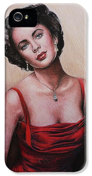 The Glamour Days Elizabeth Taylor IPhone 5 Case by Andrew Read