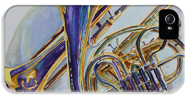 Trombone iPhone 5 Case - The Glow Of Brass by Jenny Armitage