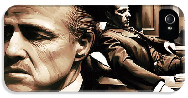 The Godfather Artwork IPhone 5 Case by Sheraz A