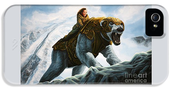 Bear iPhone 5 Case - The Golden Compass  by Paul Meijering