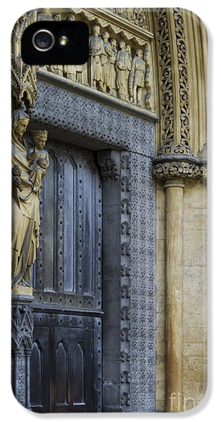 The Great Door Westminster Abbey London IPhone 5 Case by Tim Gainey