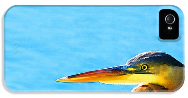 The Great One - Blue Heron By Sharon Cummings IPhone 5 / 5s Case by Sharon Cummings