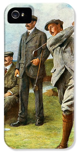 Golf iPhone 5 Case - The Great Triumvirate by Clement Flower