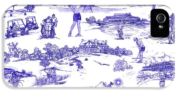 The Hamptons Historical Golf Courses IPhone 5 Case by Kimberly McSparran