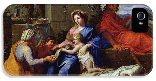 The Holy Family IPhone 5 Case by Louis Licherie de Beuron