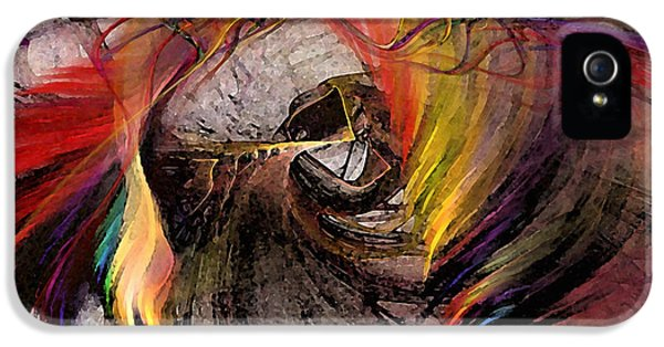 Illustrative iPhone 5 Case - The Huntress-abstract Art by Karin Kuhlmann